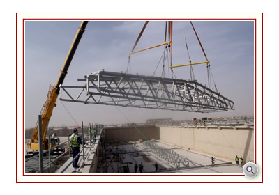 Roof Spans being placed ready for Odour Control Covers EPSL